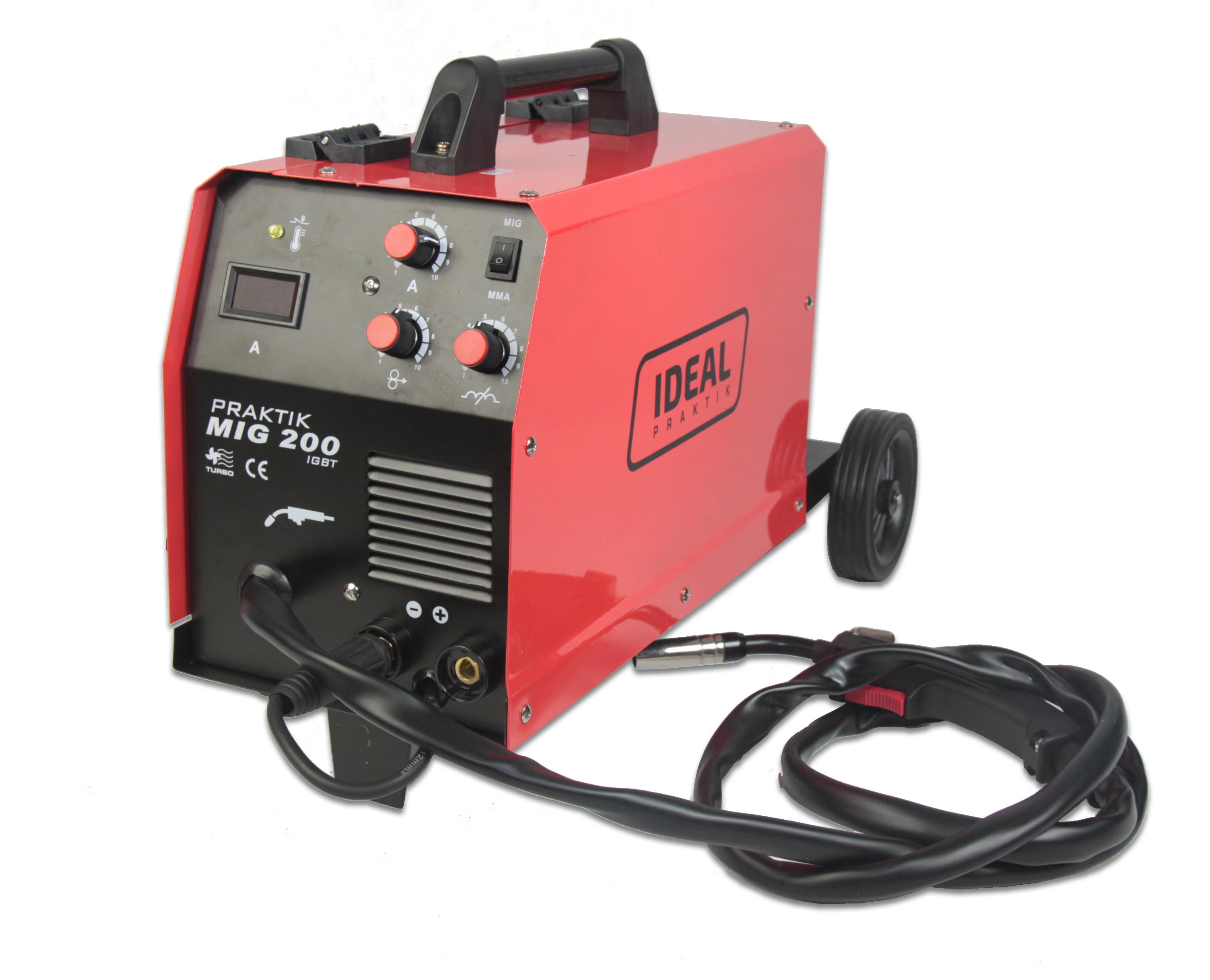 2483bcba56a Welding machine MIG 200Amp IDEAL PRAKTIK MIG 200 MMA, FCAW GASLESS ...